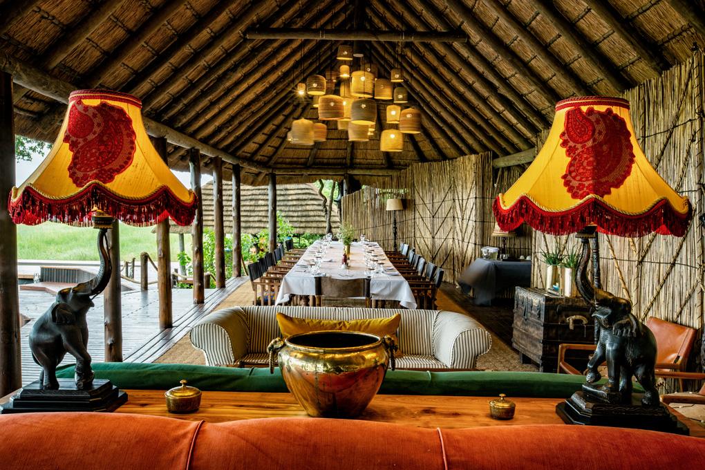 Dining area, Mapula Lodge, Okavango Delta, Botswana